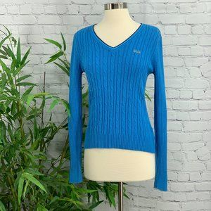 The Classic Le Tigre Blue Cable Knit Sweater